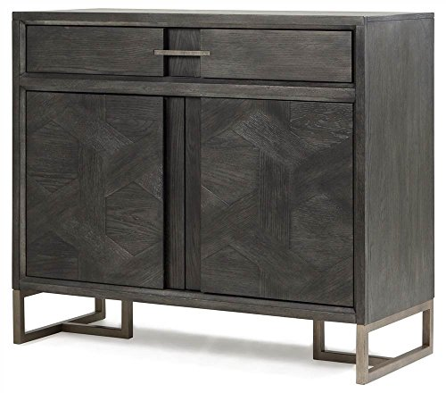 Proximity Heights Media Chest in Smoke Anthracite - Finish Anthracite