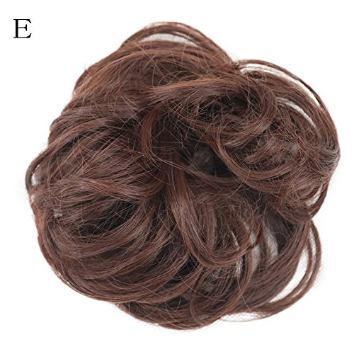 VICCKI Women's Curly Messy Bun Hair Twirl Piece Scrunchie Wigs Extensions Hairdressing (E, Free)]()