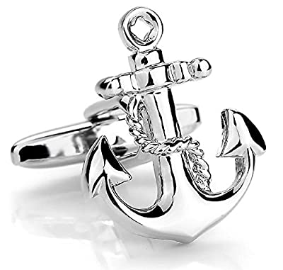 Chryssa Youree Men's Vintage Anchor Ornate Wedding Gift Business Shirts Cufflinks 1 Pair Set Silver (XK-020) by Chryssa Youree that we recomend individually.