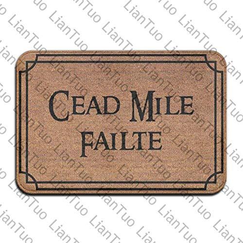 """Cead Mile Failte Door Mats Mats Floor Mats Rugs Indoor Front Door Bathroom Kitchen Mat Rubber Absorbent Non Slip 15.7""""x23.6"""""""