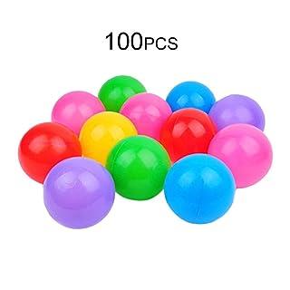 Tellaboull for 100 unids Seguridad Bola de Juguete Bola de la Piscina Bola del océano diámetro 5.5 cm Engrosamiento de plástico no tóxico para Juego de niños