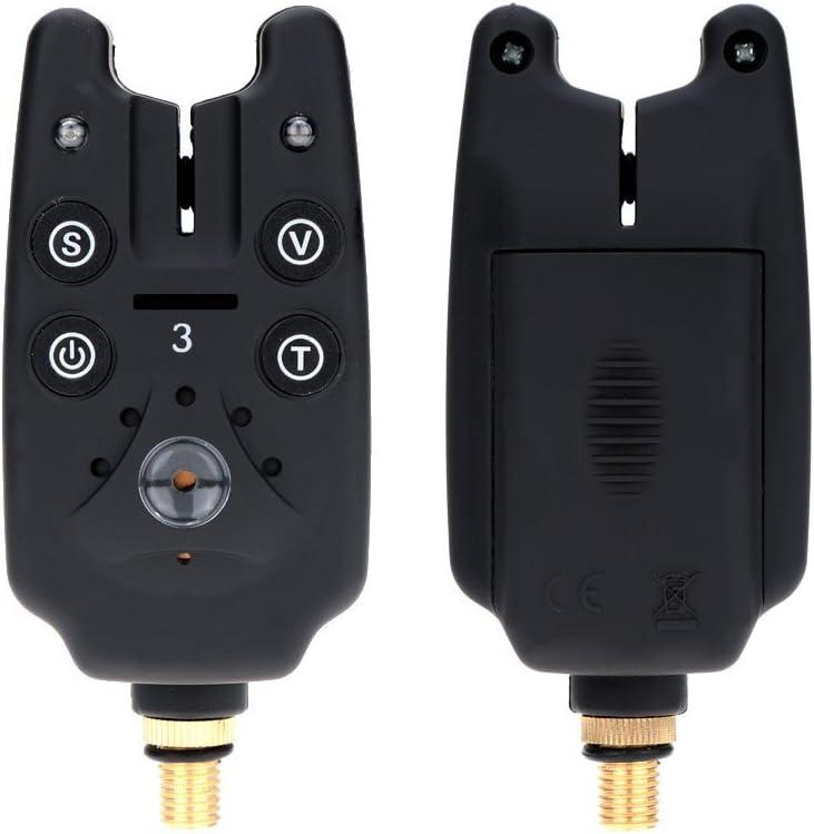 Lixada LED Bissanzeiger Set Hängebissanzeiger Swinger Bite Alarm mit Case B8L2