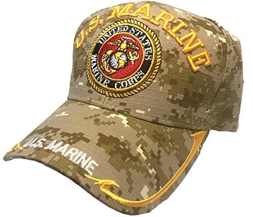Black Duck Brand U.S Marine Hat with United States Marine Corps Embroider- Baseball Cap (One Size) (Desert Digital Camo) - Marine Corps Baseball