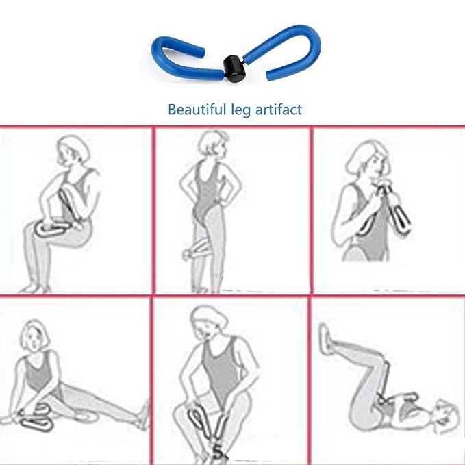 Essential Yoga Starter Set Kit 5pcs,1Yoga Mat,1 Yoga Block,Pelota de yoga de 55 cm,2 x 0.5kg Mancuernas,1Hermoso Artefacto de la Pierna,Para Pilates ...