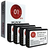 DOT-01 4X Brand 2000 mAh Replacement Canon LP-E10 Batteries for Canon EOS Rebel T6 DSLR Camera and Canon LPE10