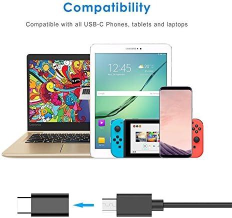 elegantstunning DishyKooker 2 Stück Micro USB zu Typ-C Adapter USB 3.0 Adapter Splitter für Datentransfer und Schnellladung