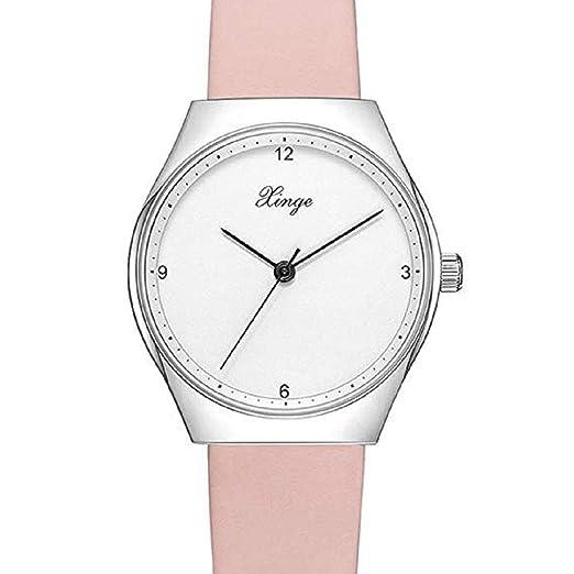 Scpink Relojes de Cuarzo para Mujer, Moda Simple Relojes de señora analógicos Femeninos a la