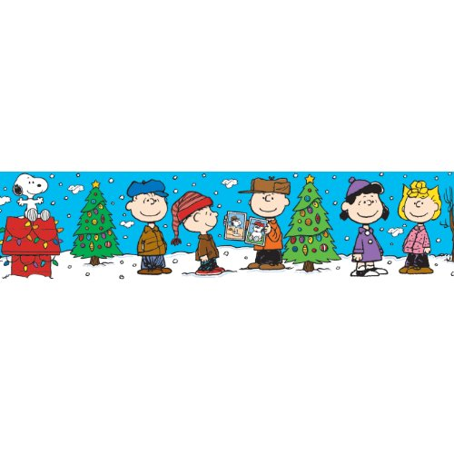 Eureka Peanuts Gang Christmas Deco Trim, Set of 12 Reusable Strips, Each Strip Measuring 37