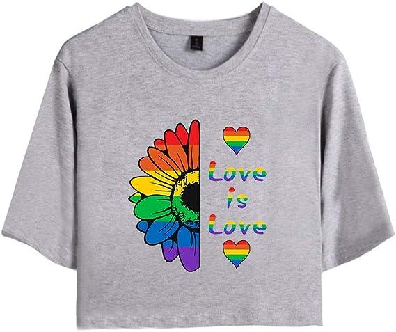 Love is Love LGBT Gay Lesbian Pride Damen T-Shirts und Rock Set Teenager M/ädchen Kurzarm Tshirts und Kurz Rocks Anzug Frauen Streetwear Bekleidungsets
