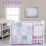 Trend-Lab-Grace-5-Piece-Crib-Bedding-Set-Purple-Blue-Gray-and-White