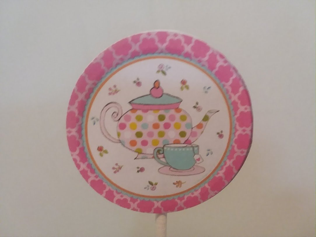 Mothers Day Tea Party Cupcake Toppers set 24-Tea party