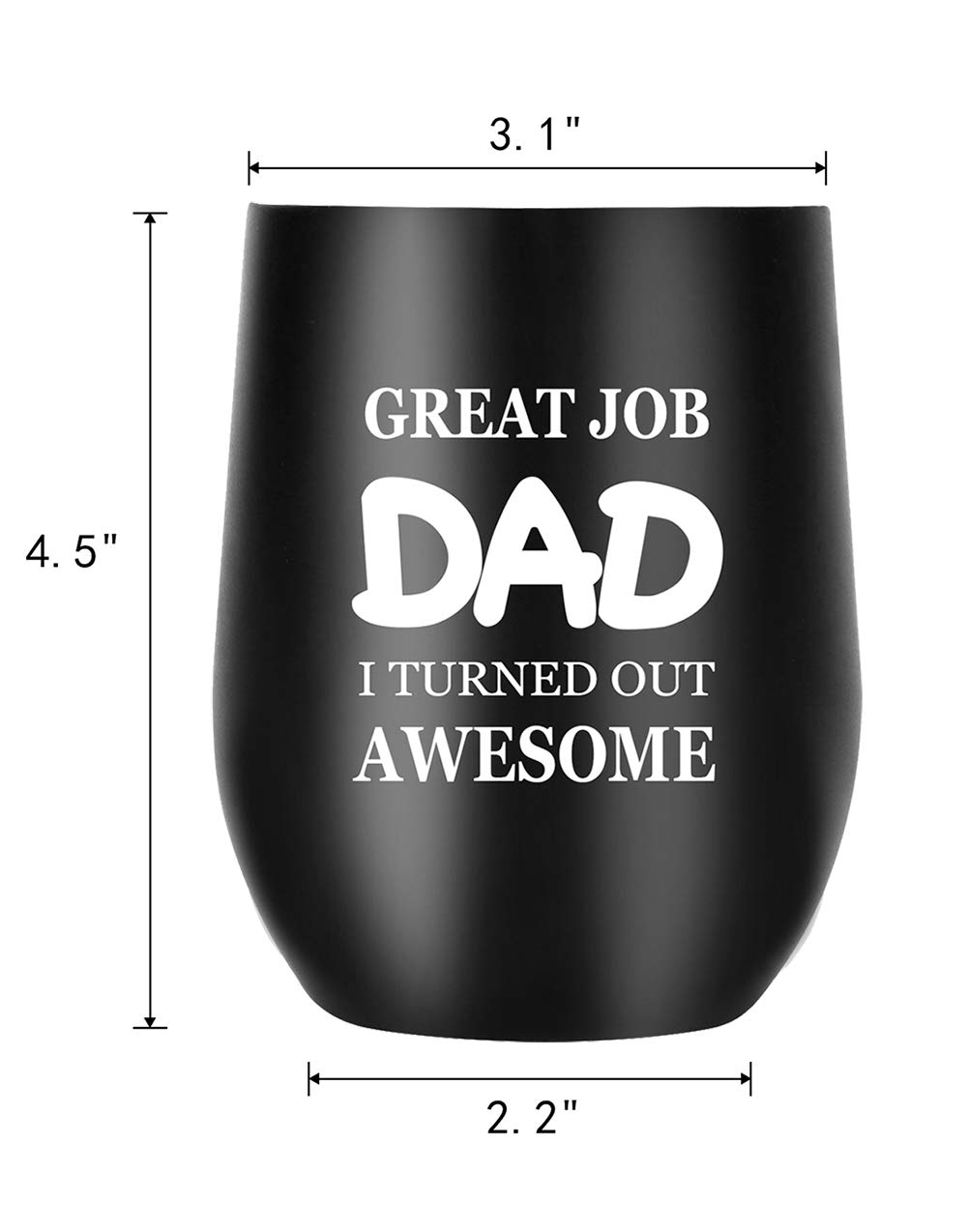 Amazon Dad Gifts Funny Mug From Daughter Son Daddy Gift Ideas For Birthday Christmas Fathers Day Great Job Kitchen Dining