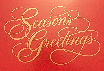 Amazon 15 elegant red and gold seasons greetings holiday 15 elegant red and gold seasons greetings holiday cards white envelopes with m4hsunfo