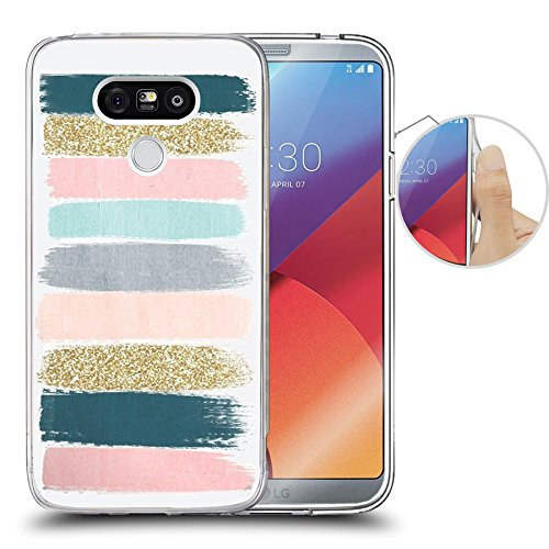 (LG G6 Case Colored stripes graffiti, LAACO Scratch Resistant TPU Gel Rubber Soft Skin Silicone Protective Case Cover for LG G6)