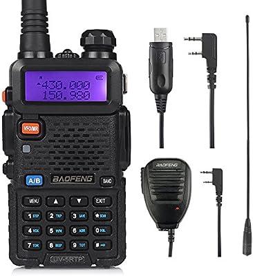 Baofeng TP Series Walkie Talkie Emisoras de Caza 8W/4W/1 W Double Bande VHF/UHF Walkie Talkie (Conjunto de Radio): Amazon.es: Electrónica