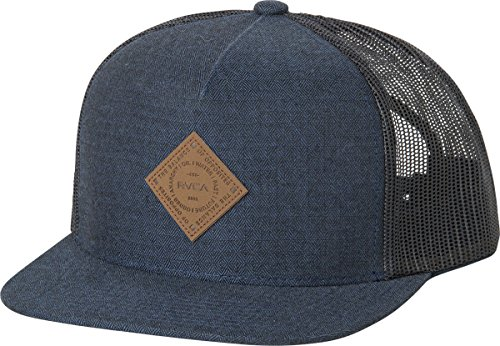 RVCA Men's Finley Trucker Hat, Mid Blue, One Size