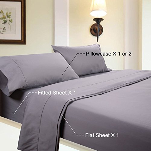 Deals and Sales - Linenwalas Todays Deal King Bedsheets - Luxury Hotel Microfiber Bedding Collection| Brushed Deep Pocket | Hypoallergenic, Wrinkle and Fade Resistant | 4 Piece Set (King, Grey)