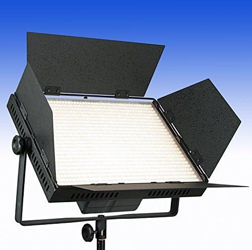Lámpara LED bicolor de ledgo LG de 1200cs en caja de metal con V de Mount Adaptador de batería y 4 filtros – HIGH CRI ledes con Ra > 95 – 12.500