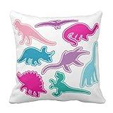 Dinosaur 2020 pillow case cover / Cushion - Pink, Purple, Blue