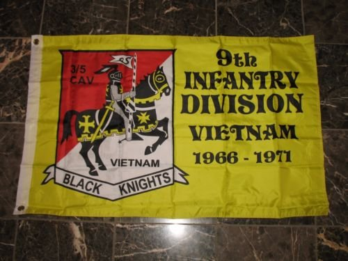 (Flag latter-day2x3 9th Infantry Division Vietnam 1966-1971 Double Sided 2ply Nylon Flag 2',x3', and free Ebook)