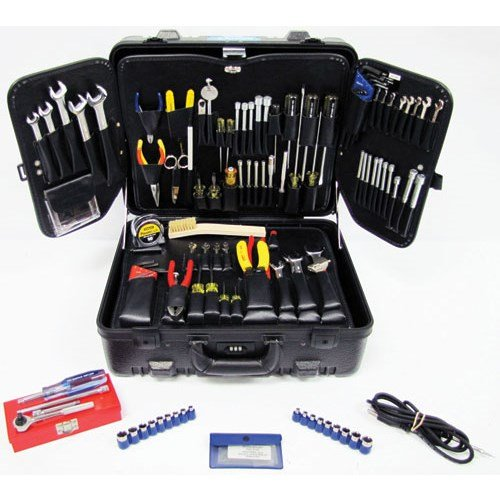 Jensen Tools JTK-88S Inch/MM Electro-Mechanical Kit in Black Super Tough Case (Pallet Tool Wing)