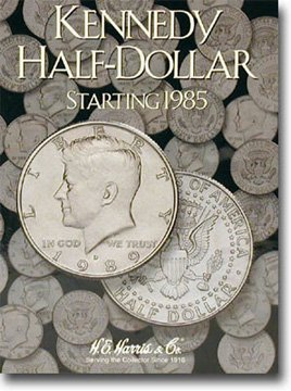 Harris Coin Folder – Kennedy Half Dollar #2 Folder 1985-1999 #8HRS2697 by H.E. Harris