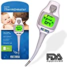 Revieta Digital Thermometer with 5 Disposable Probe Covers for Body Temp Reading