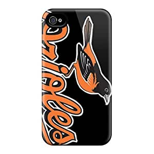 Great Hard Phone Cases For Iphone 4/4s With Unique Design Colorful Baltimore Orioles Series JasonPelletier hjbrhga1544