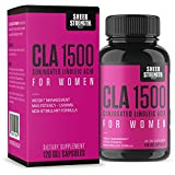 Cheap Extra Strength CLA for Women – 1500mg High Potency Weight Loss Supplement – Conjugated Lineolic Acid from Safflower Oil – Non-GMO + Stimulant-Free – 120 Softgels – Sheer Strength Labs