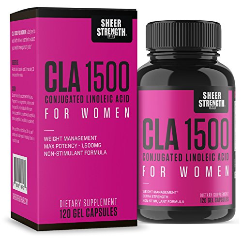 Acid Blockers - Extra Strength CLA for Women - 1500mg High Potency Natural Weight Loss Supplement - Conjugated Lineolic Acid from Safflower Oil - Non-GMO - Stimulant-Free - 120 Softgels - Sheer Strength Labs