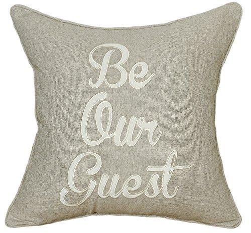 decorhouzzeu fundas de almohada Be Our Guest funda de ...