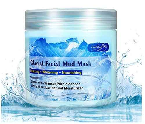 LuckyFine Anti-aging Glacial Mud Mask Ice Crystal Deeply Cleanse Pore Excess Oil CleanserMoisturizer by RubyShop - Glacial Ice Crystal