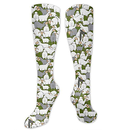 Wolf In Sheep's Clothing Male Mens Boys Teen Clothes Dresses Apparel Leg Mid Tall Long Tube Knee High Calf Stocking Hi Themed Clothing Gifts Costume Party Socks Hosiery ()