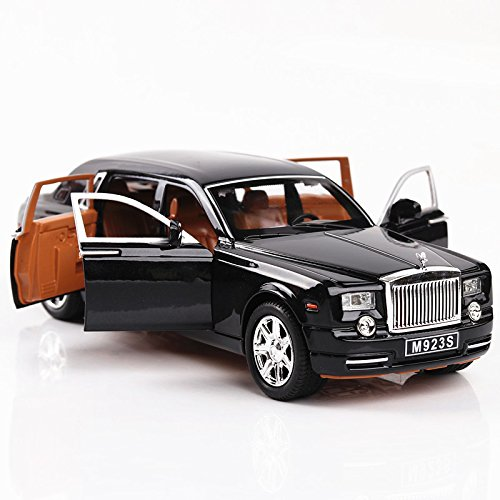 Alloy Diecast Car Models Model Cars For Rolls-Royce 1:24 Size 22cm x 7.2cm x5.5cm (Black)