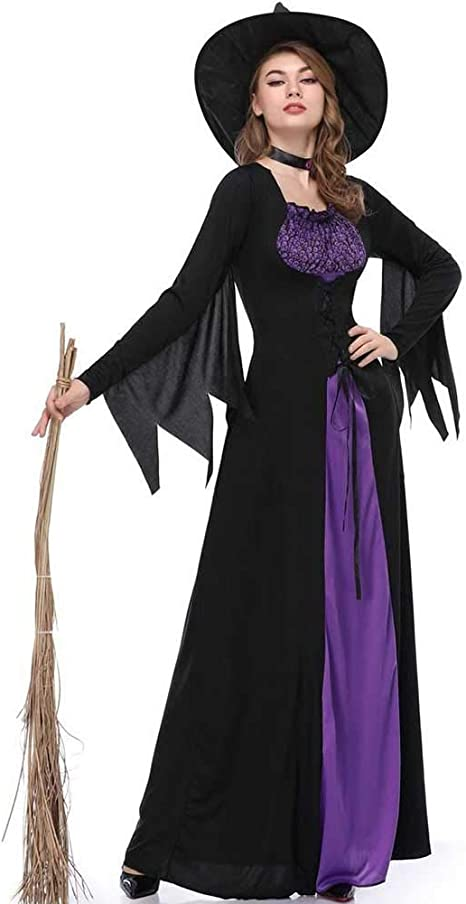GLXQIJ Disfraz De Bruja Malvada para Mujer Traje De Disfraces De ...