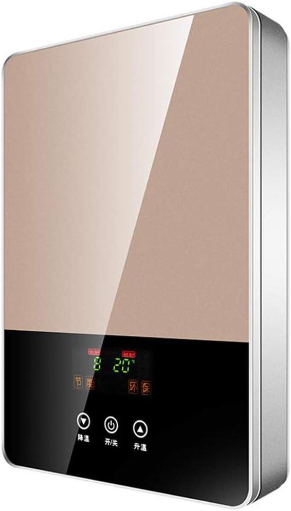 MYRSQ Calentador de Agua eléctrico instantáneo, Ducha termostática Inteligente, Pantalla LED, Cocina en el baño