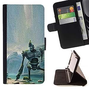Momo Phone Case / Flip Funda de Cuero Case Cover - Gigante de hierro;;;;;;;; - Sony Xperia Z5 Compact Z5 Mini (Not for Normal Z5)