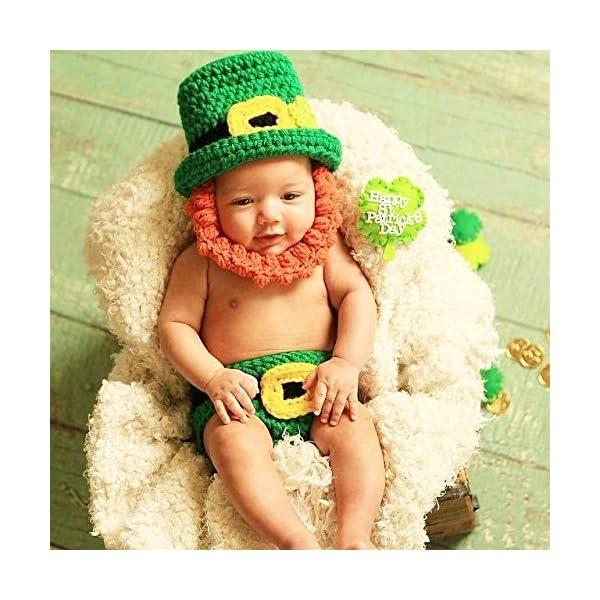 49755159142 Crochet Baby St. Patrick s Day Leprechaun Hat Beanie Beard Diaper ...