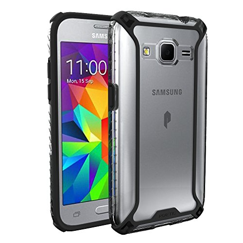 Galaxy Core Prime / Galaxy Prevail LTE Case, POETIC Affinity Series Premium Thin/No Bulk/Slim fit/material Protective Bumper Case for Samsung Galaxy Core Prime Black/Clear