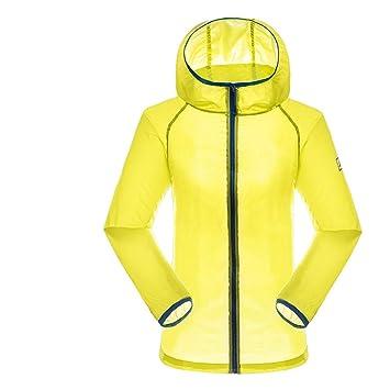 Ropa deportiva Chaquetas deportivas Sunjing Damas Verano Viento Luz Transpirable Puro Color Protector Solar Ropa Deportes Al Aire Libre Protector Solar Capa Protección UV