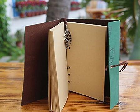 a righe Ruikey Plain Ruled Cahier Pocket Soft Feel in simil pelle Verde Creative carta spessa con non-acida migliore regalo per tutte le penne senza spurgo 17.5*10.5 cm
