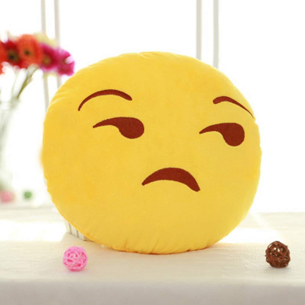 TianranRT 32 cm Suave QQ Emoji Emoticon Sonriente Relleno muñeca de Juguete Peluche Almohada Cover: Amazon.es: Bricolaje y herramientas
