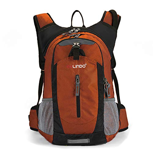 Hydration Daypacks - Gelindo Lightweight Daypack, Durable Hydration Pack with 2.5L Water Reservoir for Travel Hiking Running Cycling School, Cooler Bag Keep Liquid for at Least 4 Hours, 18L