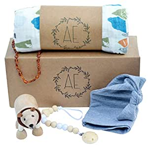 Amazon.com: 5 piezas Baby Boy ducha Set de regalo | Listo ...
