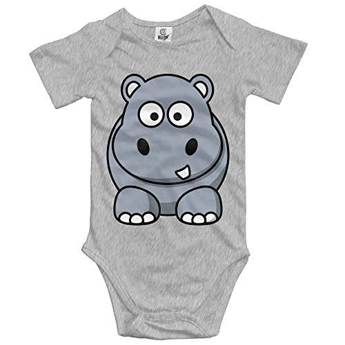 woonmo Unisex Newborn Bodysuits Hippo Girls Babysuit Short Sleeve Jumpsuit Sunsuit Outfit 18 Months Ash
