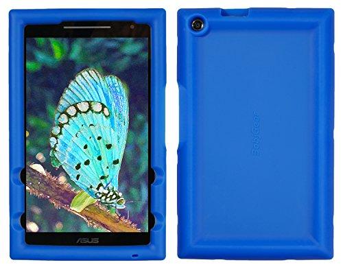 Bobj Rugged Case for ASUS ZenPad Z380, P022 (Z380C, Z380CX, Z380KL, Z380M, P00A, P024) – BobjGear Custom Fit - Patented Venting - Sound Amplification - BobjBounces Kid Friendly (Batfish Blue)