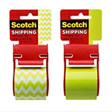 Scotch Decorative Shipping Packaging Tape, 1.88 x 500 Inches, 6 Rolls (141-PRTD7)