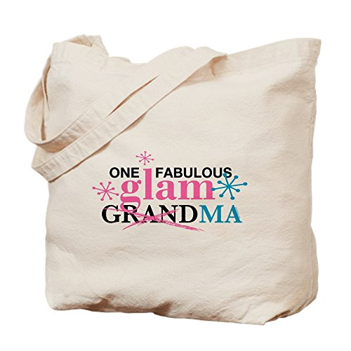 CafePress - Glam Grandma - Natural Canvas Tote Bag, Cloth Shopping Bag