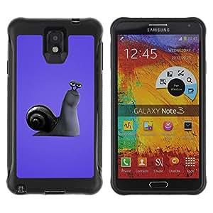 Be-Star único patrón Impacto Shock - Absorción y Anti-Arañazos Funda Carcasa Case Bumper Para SAMSUNG Galaxy Note 3 III / N9000 / N9005 ( Purple Snail )