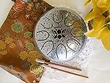WuYou OM 7in Steel Drum Tongue Drum UFO handpan Chakra Drum, Free bag,B Key, Silver